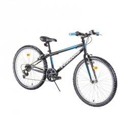 """Rower dziecięcy Junior Bike DHS Teranna 2421 24"""" - model 2019 Kolor Niebieski"""