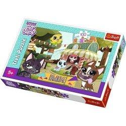 Puzzle 100 el. Littlest Pet Shop – Zabawa w Parku