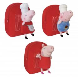 Plecak z maskotką Świnka Peppa 01