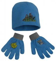 Komplet czapka jesienna / zimowa i rękawiczki Wojownicze Żółwie Ninja : Rozmiar: - 54 cm