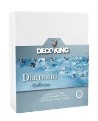 Prześcieradło Diamond bawełniane / jersey z gumką 120x200 cm DecoKing