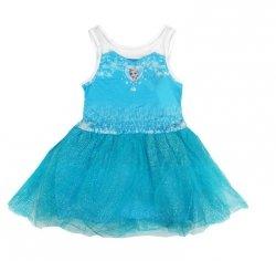 Sukienka tiulowa Frozen – Kraina Lodu, niebieska : Rozmiar: - 116