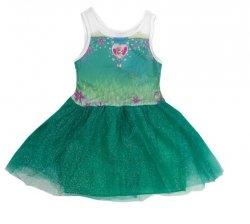 Sukienka tiulowa Frozen – Kraina Lodu, zielona : Rozmiar: - 128