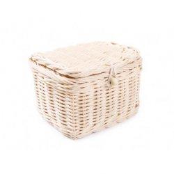 Zamykany mały koszyczek rattanowy / szkatułka 13x11x11h cm