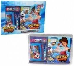 zestaw prezentowy: zegarek na rękę, portfel i pamiętnik z długopisem Yo-Kai Watch