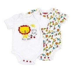 Body niemowlęce – 2 pak Fisher Price : Rozmiar: - 12 m