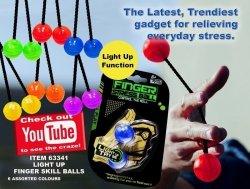 Kulka odstresowująca świecąca - zabawka zręcznościowa - losowy kolor