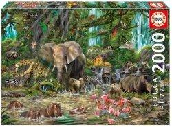Puzzle Afrykańska Dżungla 2000 el.