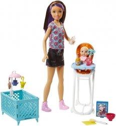 Barbie Opiekunka Zestaw + Lalki Ast.