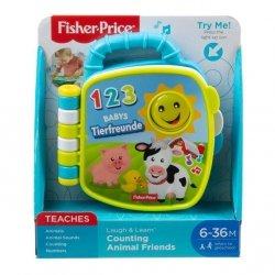 """Mattel Fisher Price Ucz się i śmiej Książeczka """"Liczymy zwierzątka"""""""