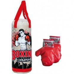 Zestaw bokserski junior Enero worek treningowy 50x18cm + rękawice