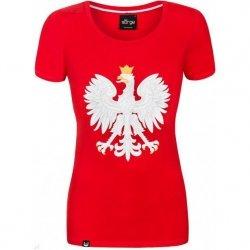 Koszulka Patriotyczna Czerwona Godło Polski Surge Polonia R.S
