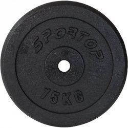 Obciążenie Żeliwne Czarne 15 Kg Sportop Fi26