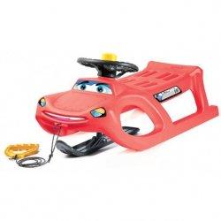Sanki plastikowe Car Drive Control czerwone