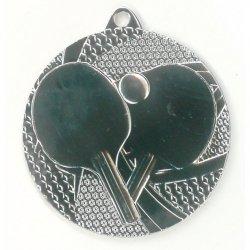 Medal 50mm srebrny tenis stołowy MMC7750/S