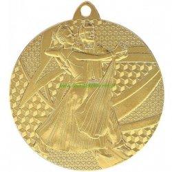 Medal stalowy 50mm złoty- taniec MMC7850/G