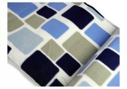 Koc 150x200cm niebiesko-biały 2810