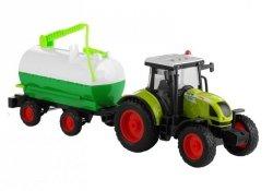 Traktor z Przyczepą Cysterna Dźwięki Napęd 37,5 cm