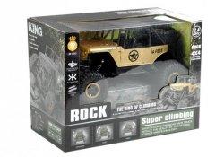 Auto Zdalnie Sterowane Jeep R/C 1:18 Złoty