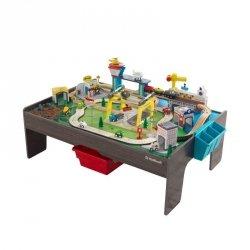 Ogromny Stół Drewniana Kolejka Miasto KidKraft Ponad 120 elementów