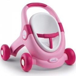 Smoy MiniKiss 3w1 Chodzik Pchacz Wózek Różowy