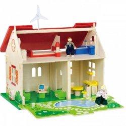 VIGA Drewniany Domek dla lalek 2 Lalki Mebelki ECO