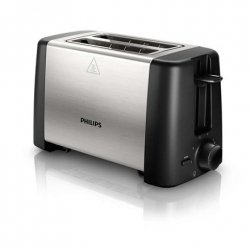 Toaster Philips HD4825 Black, Stainless steel, Stainless steel, 800 W, Number of slots 2, Number of power levels 7,