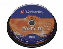 Verbatim DVD-R AZO Matt Silver 4.7 GB, 16 x, 10 Pack Spindle