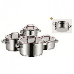 WMF Cookware set Function 4 pot set, 5-piece, 1 low casserol (20 cm), 3 high casserols (16/20/ 24 cm) Cromargan® 18/10 stainle