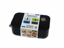 Yoko Design Lunch Box, czarny, pojemność 1L