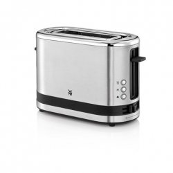 WMF Toaster KITCHENminis Stainless steel, Cromargan® 18/10 stainless steel, 600 W, Number of slots 1, Bun warmer included