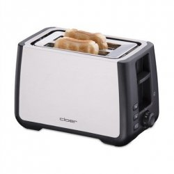 CLoer Toaster 3569 Stainless steel / black, Stainless steel, plastic, 1000 W, Number of slots 2, Bun warmer included