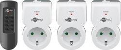 Goobay 94502 Radio-controlled socket set 3+1, grey-white