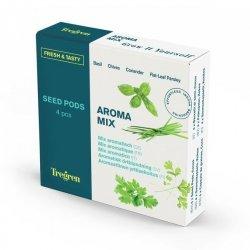 Tregren Fresh&Tasty Aroma Mix, 4 seed pods: basil, chives, coriander, leaf pepper, SEEDPOD87