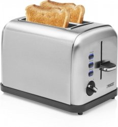 Princess Toaster Inox, Stainless steel, 950 W, Number of slots 2, Number of power levels 6, Bun warmer included