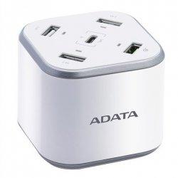 ADATA USB Charging Station CU0480QC Output USB-A DC 5V = 2.4A max ; Output Type-C DC 5V = 3A max ; Output QC 3.0 DC 3.6-6.5V =