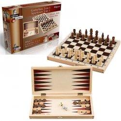 Zestaw gier szachy warcaby backgammon 3w1