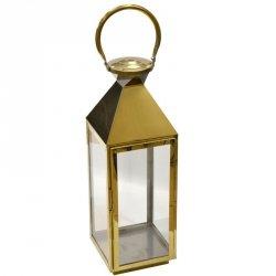 Latarnia dekoracyjna kopuła 18x19x55,5cm stal nierdzewna - złota