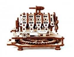 Drewniane puzzle mechaniczne 3D Wooden.City - Silnik V8 #T1