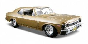Maisto Modele metalowy Chevy Nova SS 1970 niebieski 1:24