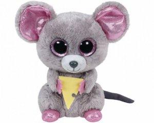 Meteor Maskotka TY Beanie Boos Squeaker - Mysz z serem, 15 cm