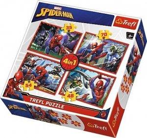 Trefl 4w1 W sieci Spider-Mana