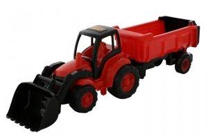 Pojazd Mistrz Traktor z łyżką i naczepą