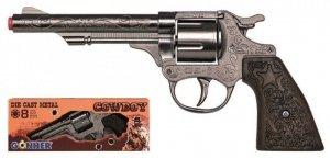 Pulio Rewolwer kowbojski 8 naboi metalowy GONHER 80/0
