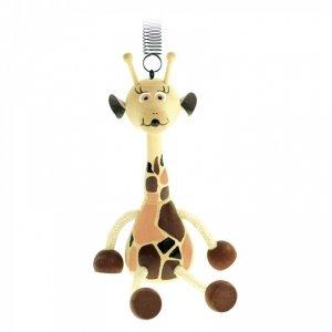 BINO Drewniana przywieszka ze sprężyną-Żyrafa