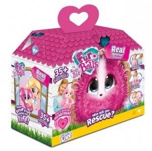 Tm Toys Maskotka interaktywna Fur Balls My Real Rescue Pink