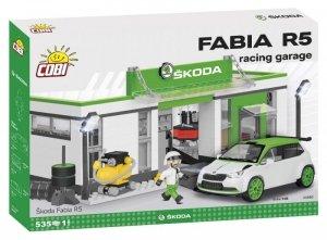 Cobi Klocki Klocki Cars Skoda Fabia R5 Racing Garage