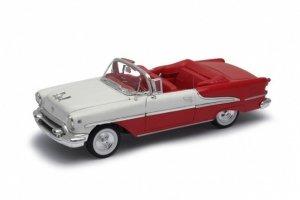 Welly Model kolekcjonerski 1955 Oldsmobile Super 88 czerwono biały