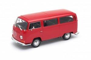 Welly Model kolekcjonerski 1972 Volkswagen Bus T2, czerwony