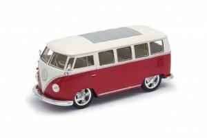 Welly Model kolekcjonerski 1963 Volkswagen T1 Bus, czerwono-biały